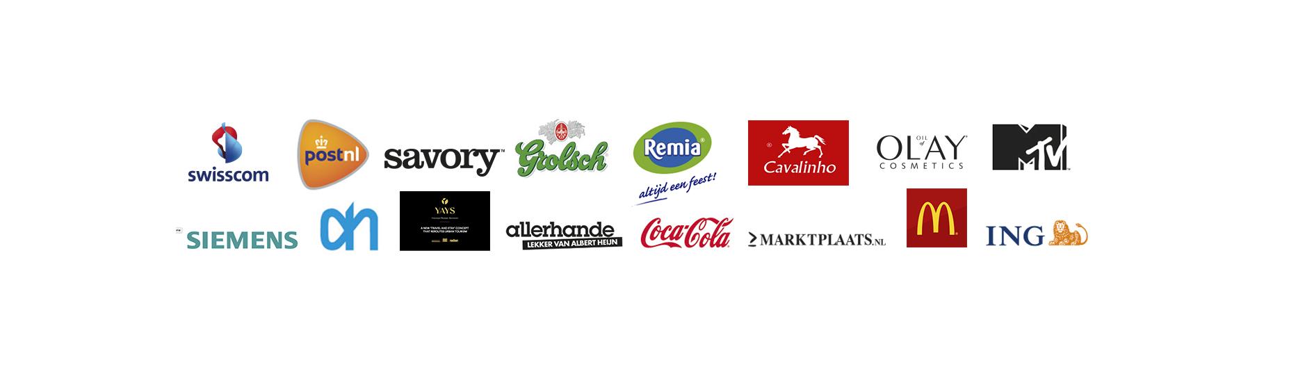 Liquidcake, Clients, foodfilms, siemens, remia, olay, mtv ing, coca cola, albert heijn, grolsch